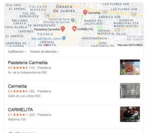 Ejemplo de búsqueda google mapa