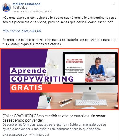 ejemplo facebook ads 1