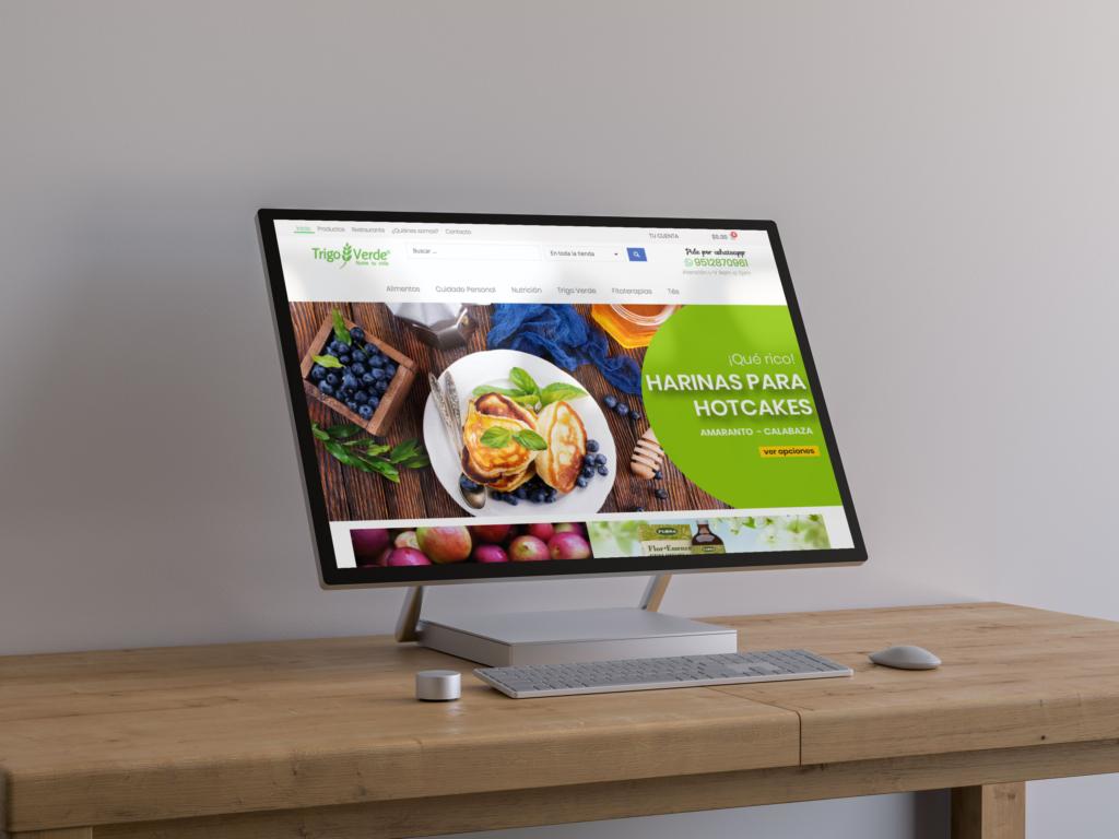 página web tienda en línea